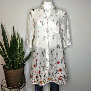Vintage Dee Dee's ants at a picnic button up SZ M
